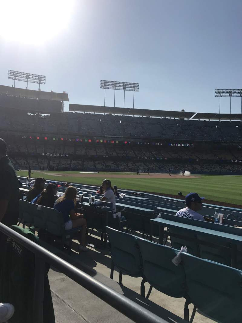 Seating view for Dodger Stadium Section 44FD Row A Seat 6