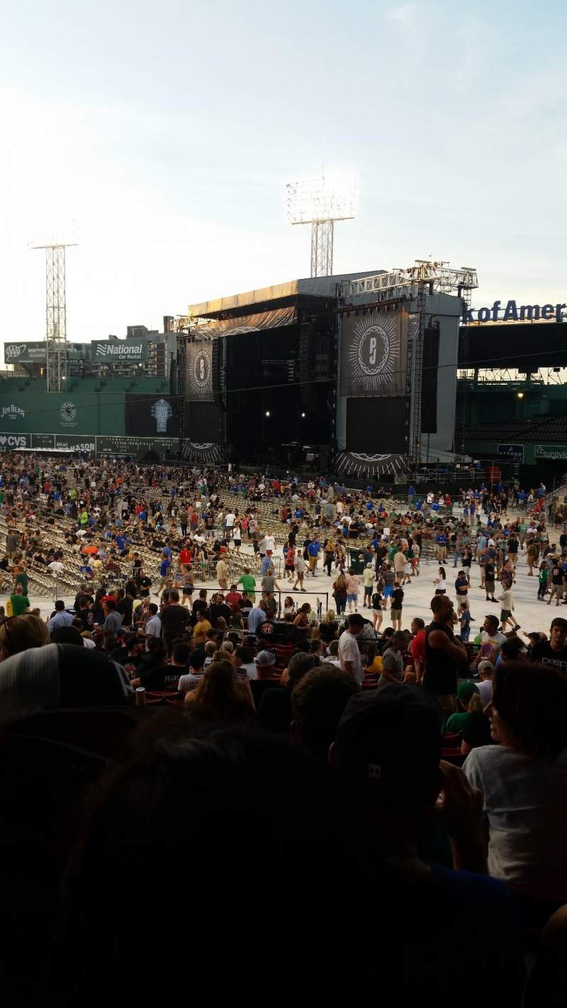 Seating view for Fenway Park Section Grandstand 7 Row 2 Seat 4