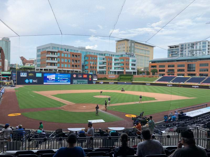 Seating view for Durham Bulls Athletic Park Section 202 Row S Seat 7