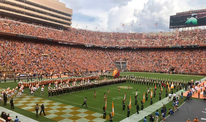 Seating view for Neyland Stadium Section X5 Row 12 Seat 15