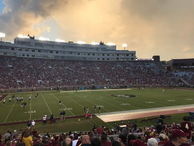 Seating view for Bobby Bowden Field at Doak Campbell Stadium Section 13 Row 32 Seat 7