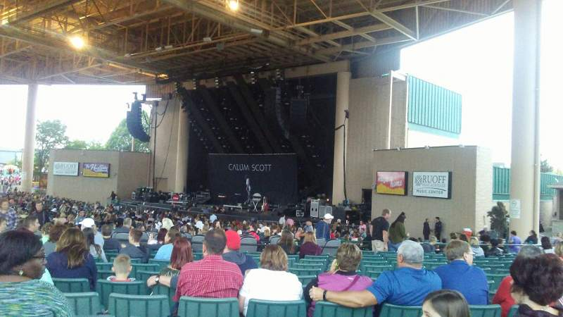 Seating view for Ruoff Home Mortgage Music Center Section H Row S Seat 14