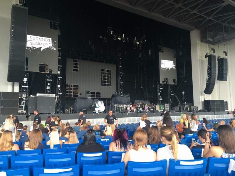 Seating view for PNC Music Pavilion Section 3 Row Q Seat 7