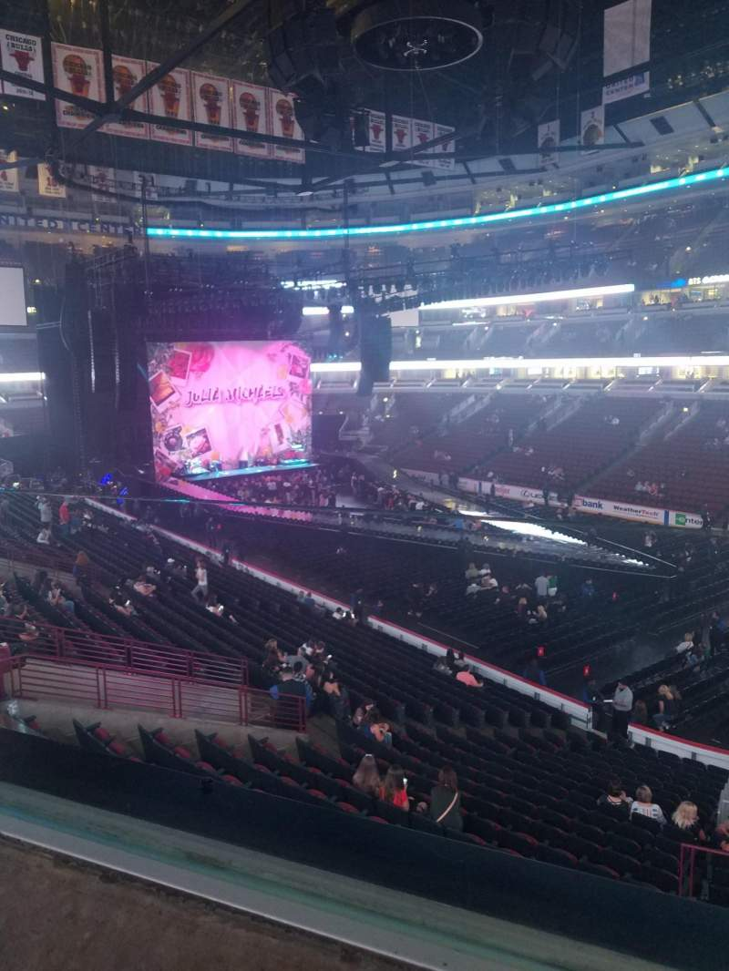 Seating view for United Center Section 214 Row 1 Seat 6