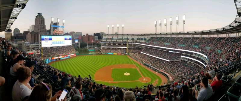 Seating view for Progressive Field Section 561 Row R Seat 8