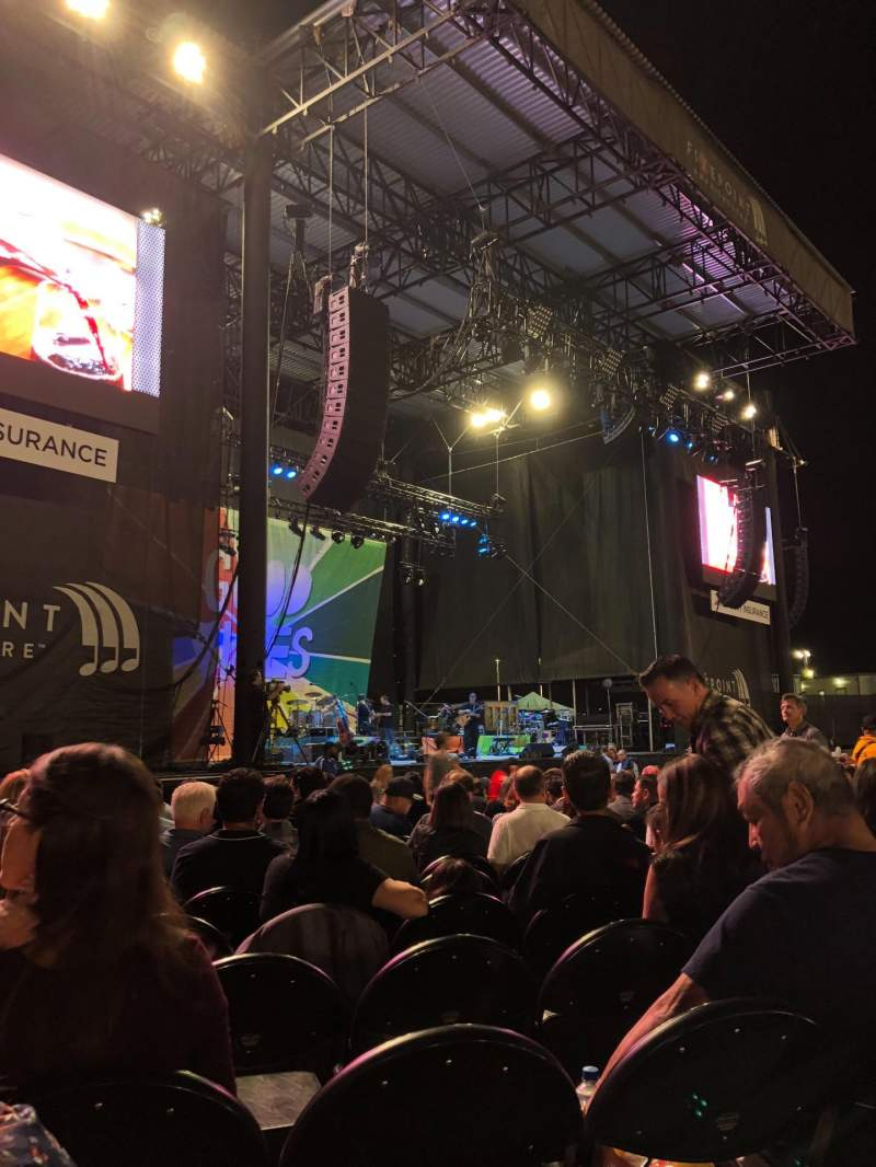 Seating view for Ameris Bank Amphitheatre Section ORCH5 Row 14 Seat 15