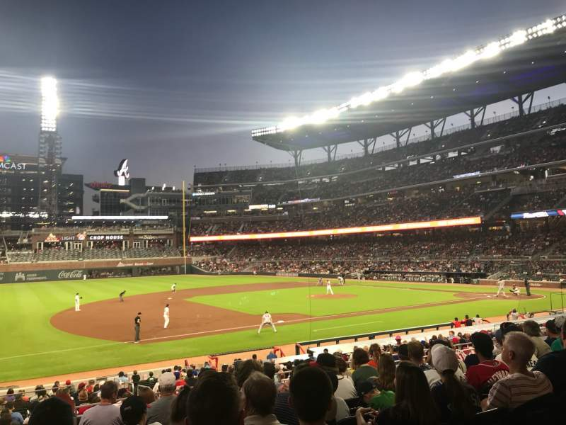 Seating view for SunTrust Park Section 137 Row 5 Seat 12