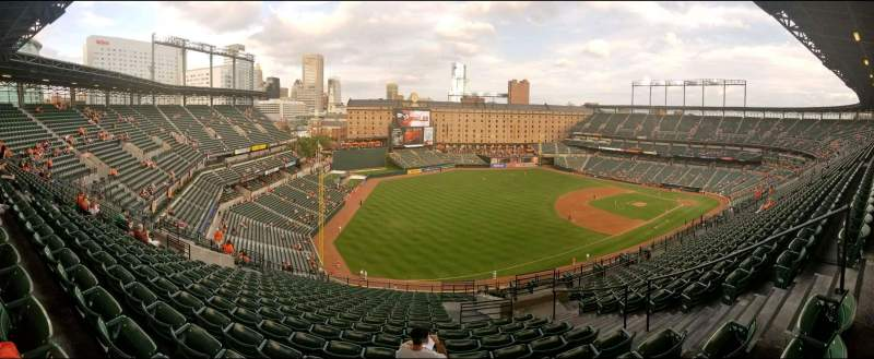 Seating view for Oriole Park at Camden Yards Section 368 Row 21 Seat 5
