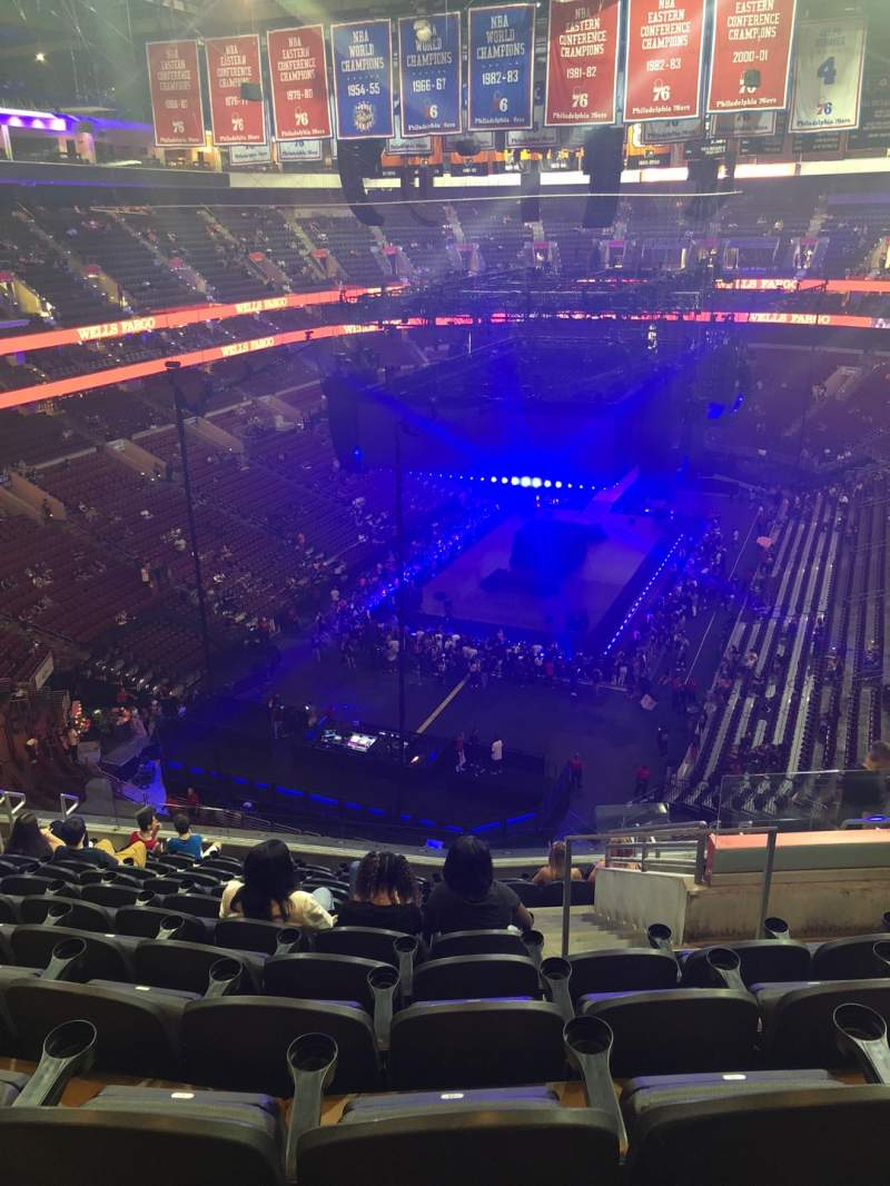 Seating view for Wells Fargo Center Section 208 Row 12 Seat 15