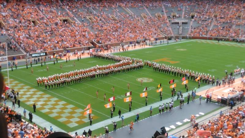 Seating view for Neyland Stadium Section X4 Row 50 Seat 28 and 27