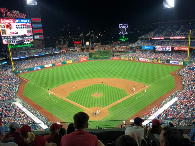 Seating view for Citizens Bank Park Section 420 Row 6