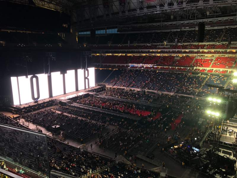 Seating view for NRG Stadium Section 504 Row H Seat 25