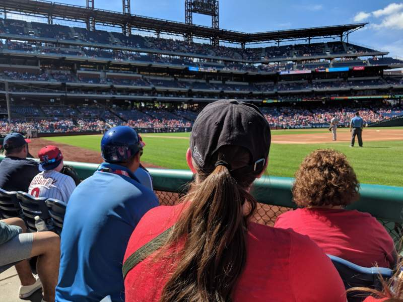 Seating view for Citizens Bank Park Section 112 Row 3 Seat 17