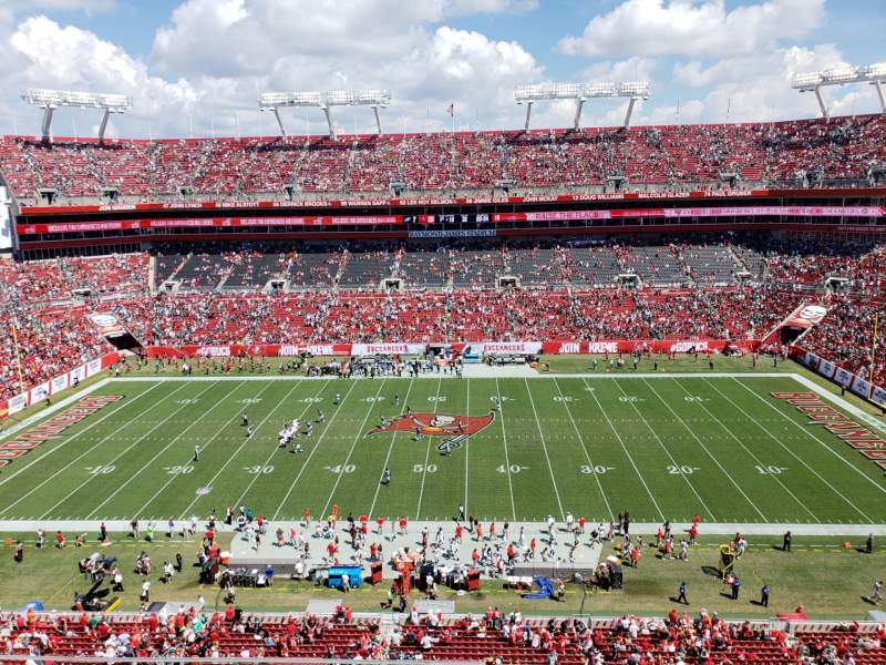 Seating view for Raymond James Stadium Section 311 Row A Seat 13