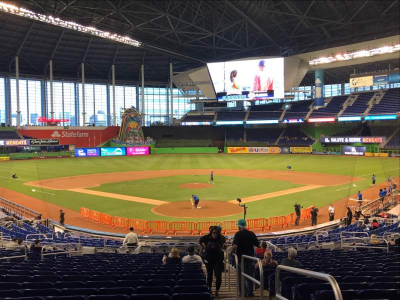 Seating view for Marlins Park Section 15 Row 14 Seat 1