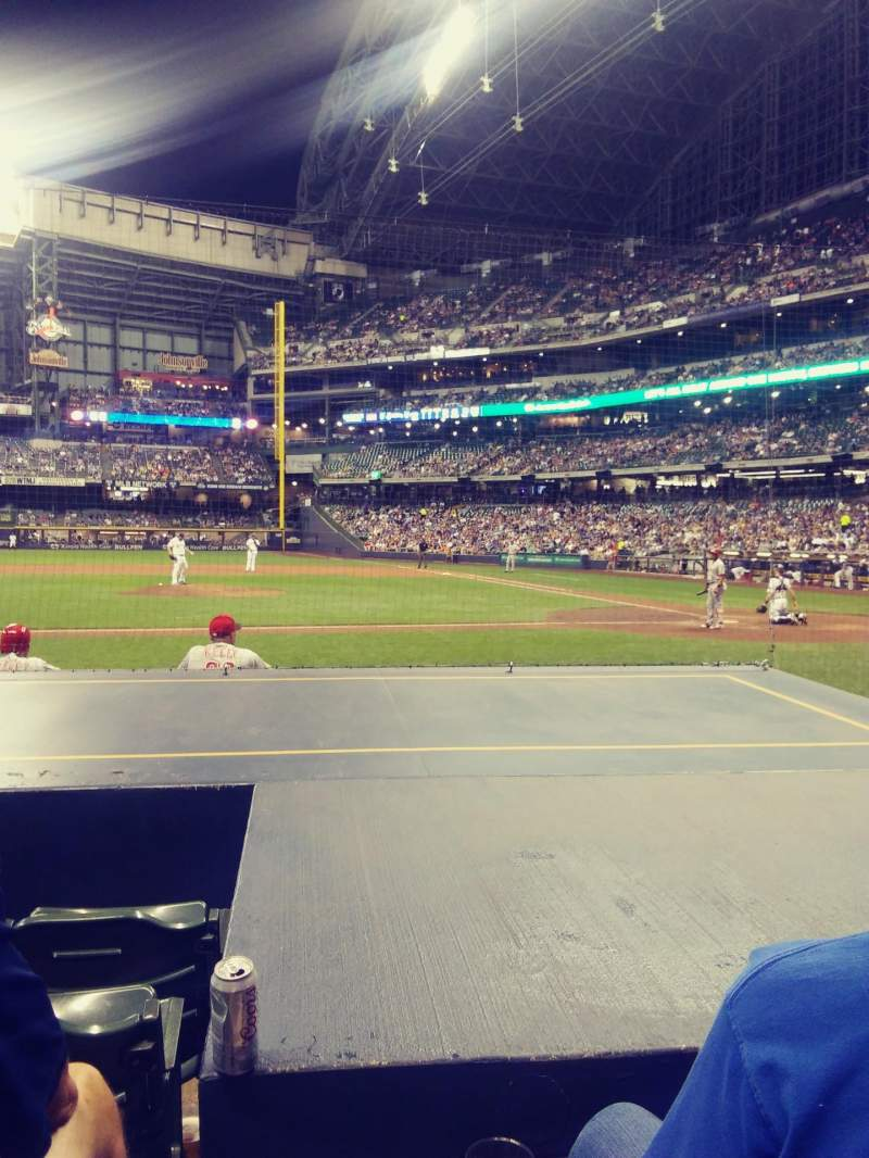 Seating view for Miller park Section 121 Row 7 Seat 15