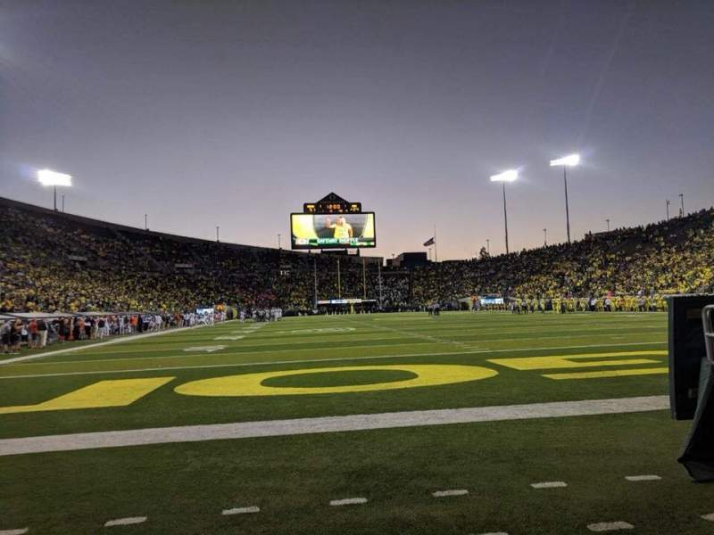 Seating view for Autzen Stadium Section Field