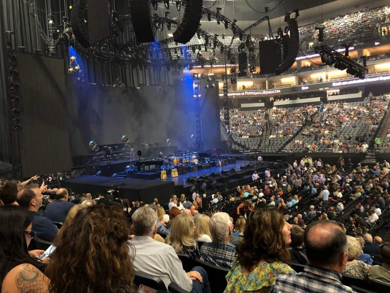 Seating view for Golden 1 Center Section 120 Row F Seat 6
