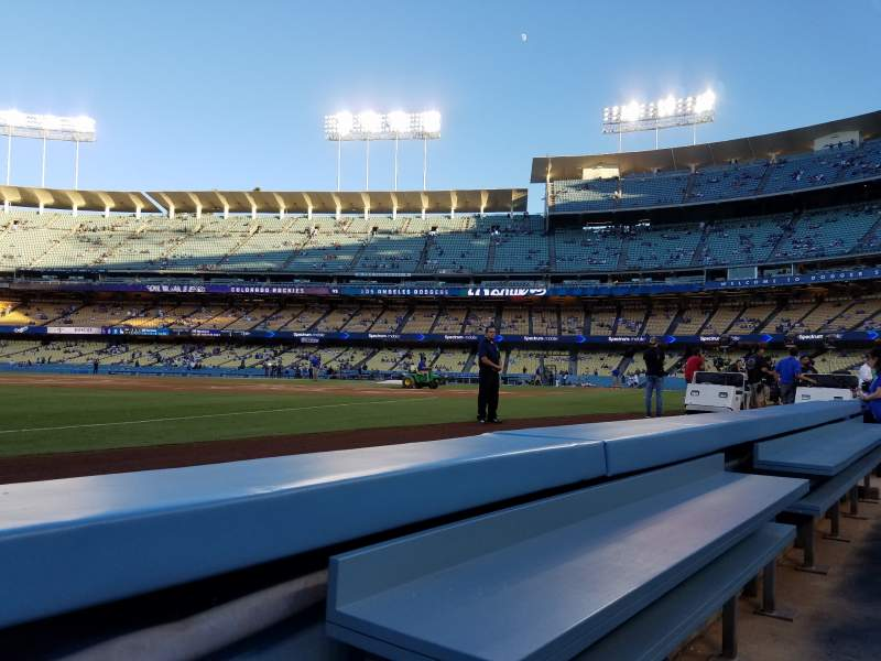 Seating view for Dodger Stadium Section 37BL Row 1 Seat 1