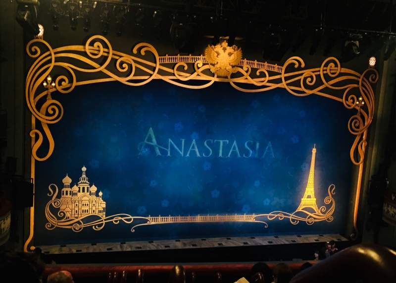 Seating view for Broadhurst Theatre Section Mezzanine L Row G Seat 1