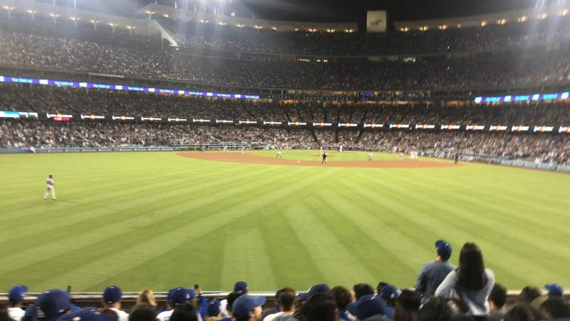 Seating view for Dodger Stadium Section 313PL Row L Seat 6