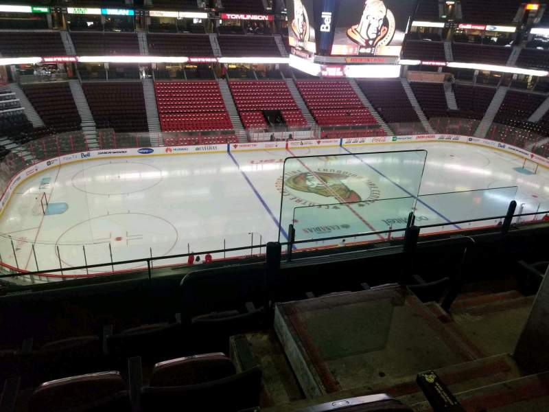 Seating view for Canadian Tire Centre Section 310 Row d Seat 1