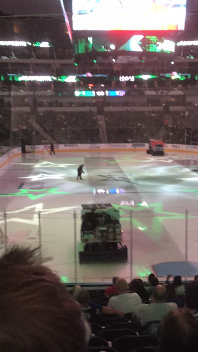 Seating view for American Airlines Center Section 101 Row U Seat 8