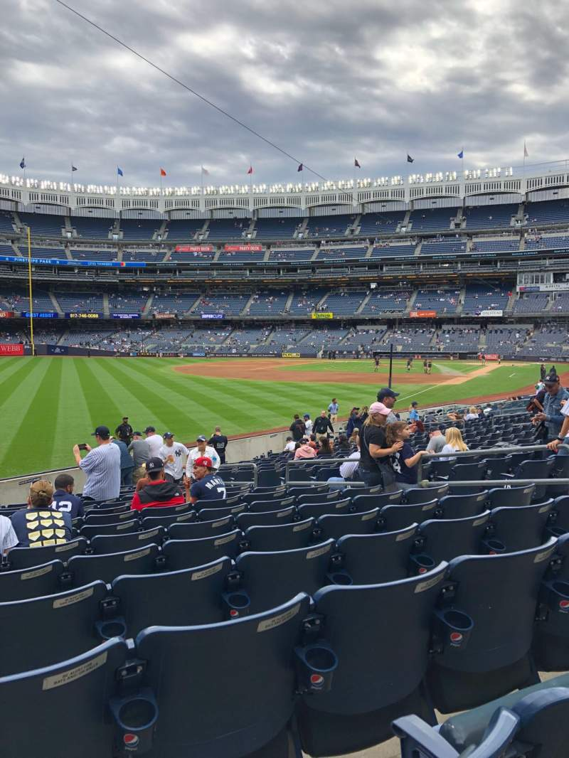 Seating view for Yankee Stadium Section 131 Row 15 Seat 9