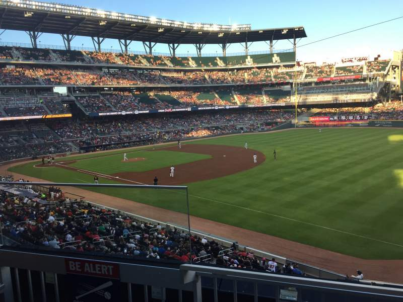 Seating view for Truist Park Section 213 Row 2 Seat 17-21