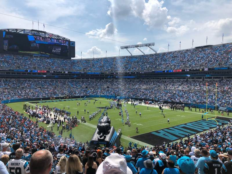 Seating view for Bank of America Stadium Section 308 Row 16 Seat 3