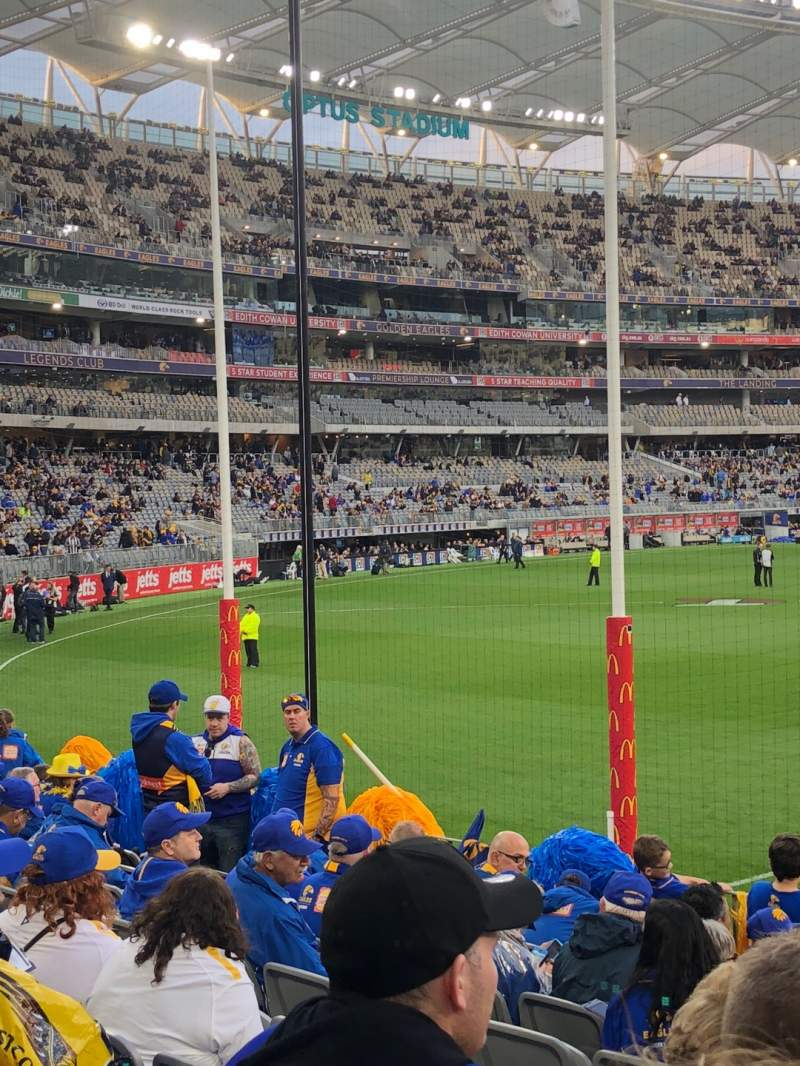Seating view for Optus Stadium Section 132 Row 10 Seat 4