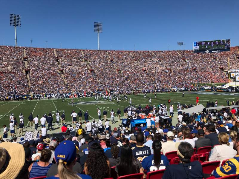 Seating view for Los Angeles Memorial Coliseum Section 107B Row 17 Seat 11