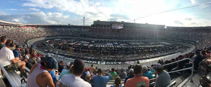 Seating view for Bristol Motor Speedway Section Allison J Row 55 Seat 1-4