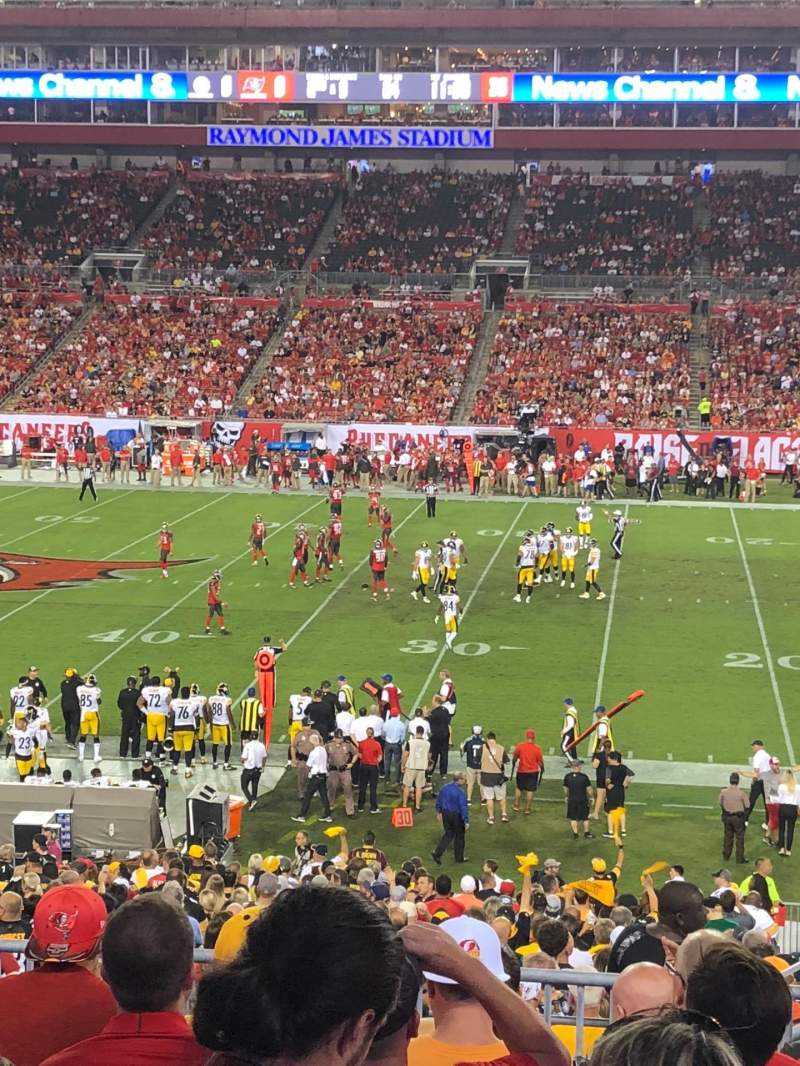 Seating view for Raymond James Stadium Section 237 Row H Seat 22