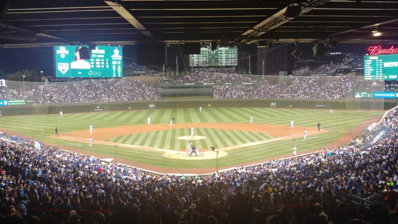 Seating view for Wrigley Field Section 217 Row 18 Seat 14