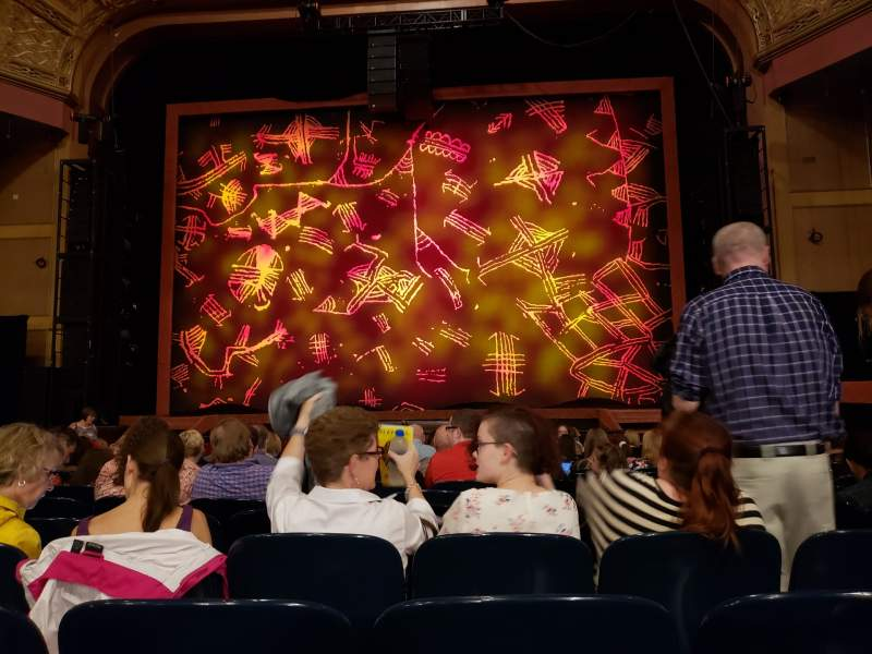 Seating view for Murat Theatre at Old National Centre Section Orchestra C Row S Seat 17