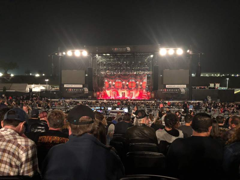 Seating view for FivePoint Amphitheater Section 303 Row 16 Seat 33