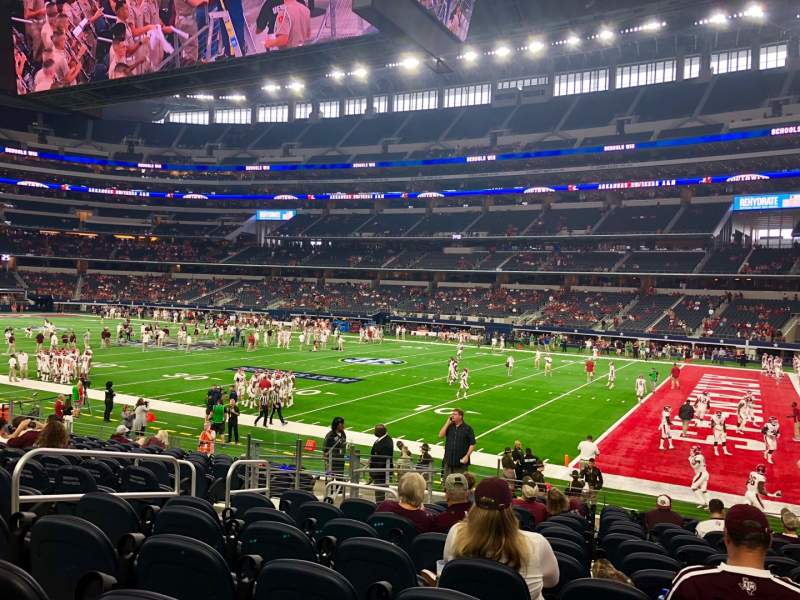 Seating view for AT&T Stadium Section C106 Row 15 Seat 5