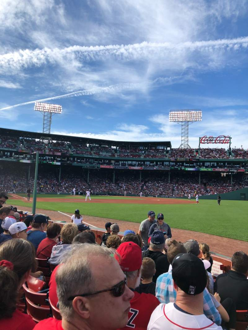 Seating view for Fenway Park Section Right Field Box 7 Row E Seat 14