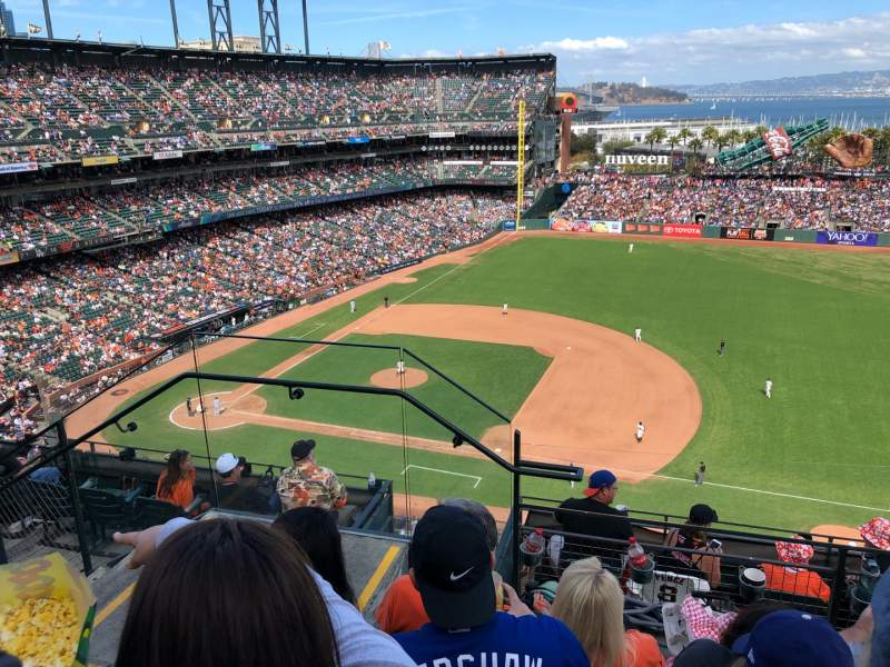 Seating view for Oracle Park Section VR305 Row 3 Seat 22