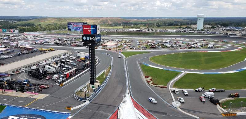 Seating view for Charlotte Motor Speedway Section Ford Row 38