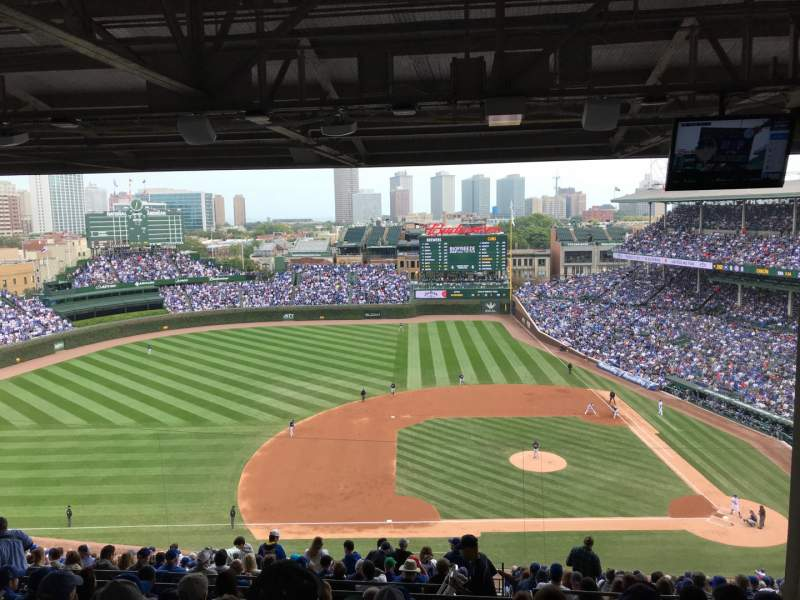 Seating view for Wrigley Field Section 411L Row 8 Seat 16