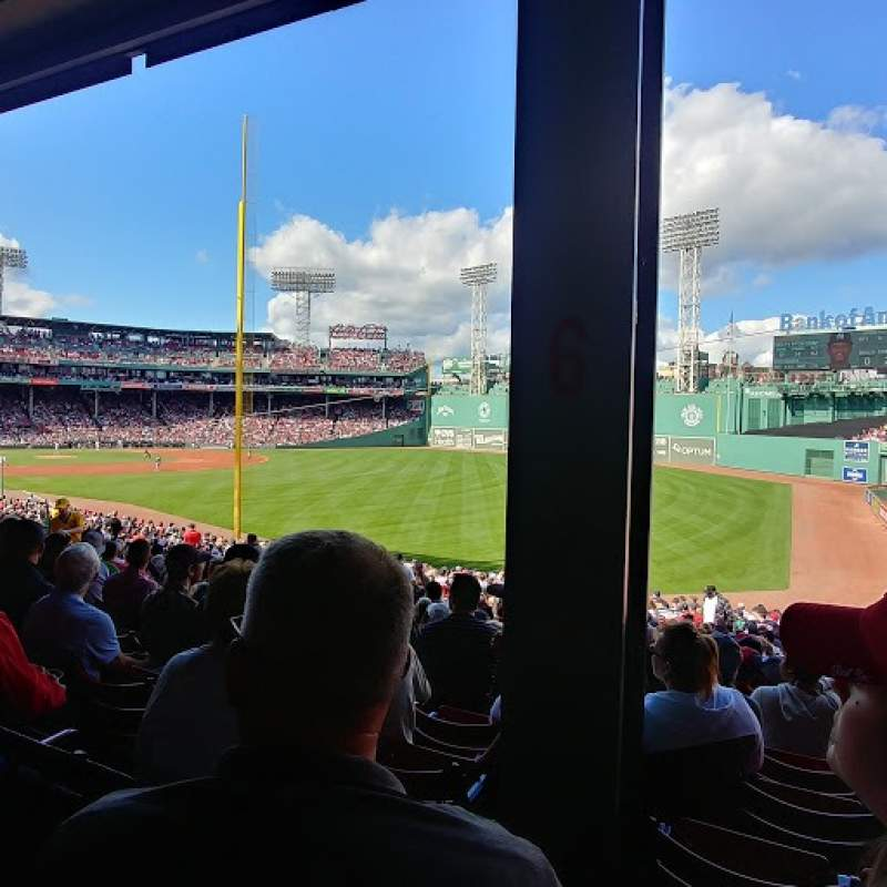 Seating view for Fenway Park Section Grandstand 6 Row 3 Seat 5