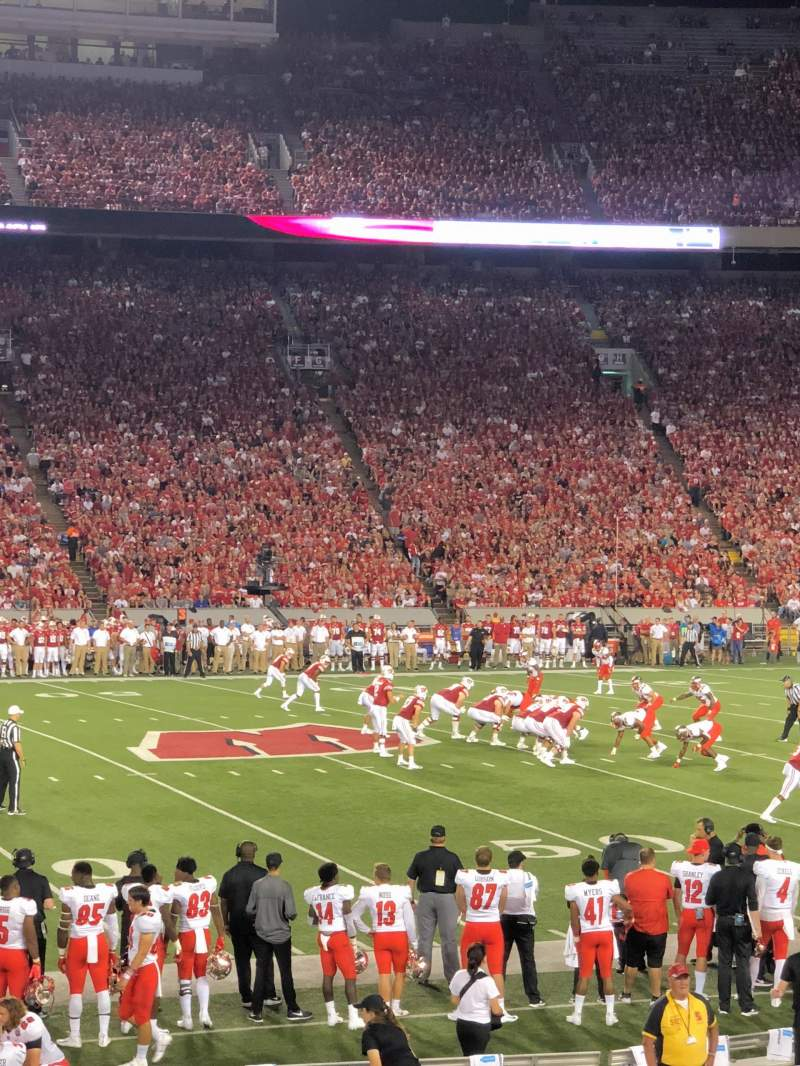 Seating view for Camp Randall Stadium Section U Row 22 Seat 21