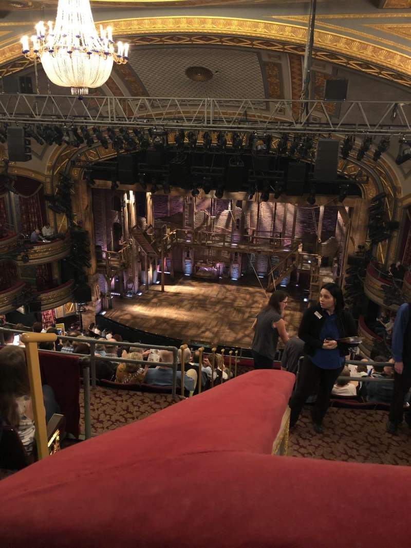 Seating view for Richard Rodgers Theatre Section Rear Mezzanine R Row D Seat 2
