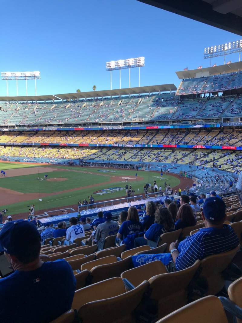 Seating view for Dodger Stadium Section 141LG Row O Seat 5-6