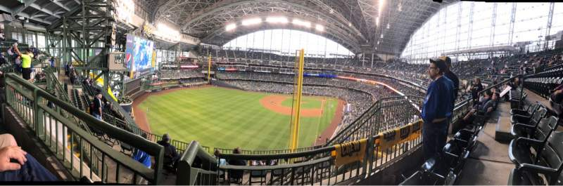 Seating view for American Family Field Section 440 Row 9 Seat 7