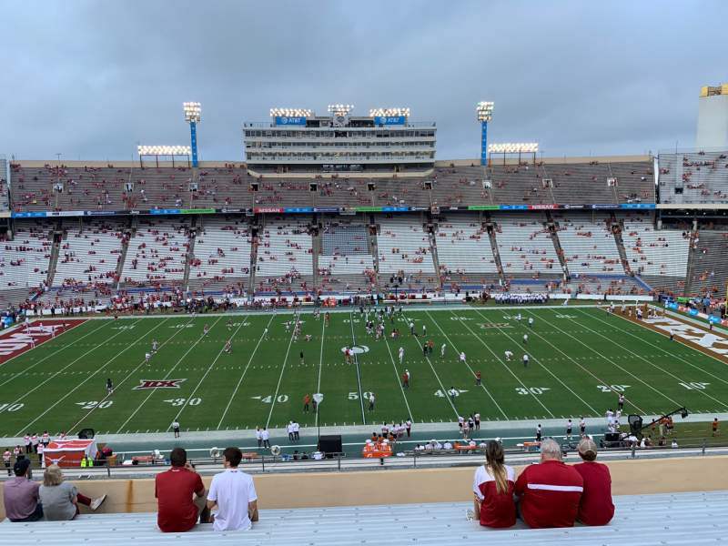 Seating view for Cotton Bowl Section 128 Row 12 Seat 20