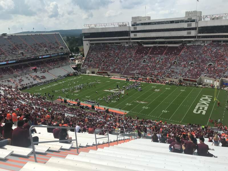 Seating view for Lane Stadium Section 23 Row 5J Seat 10