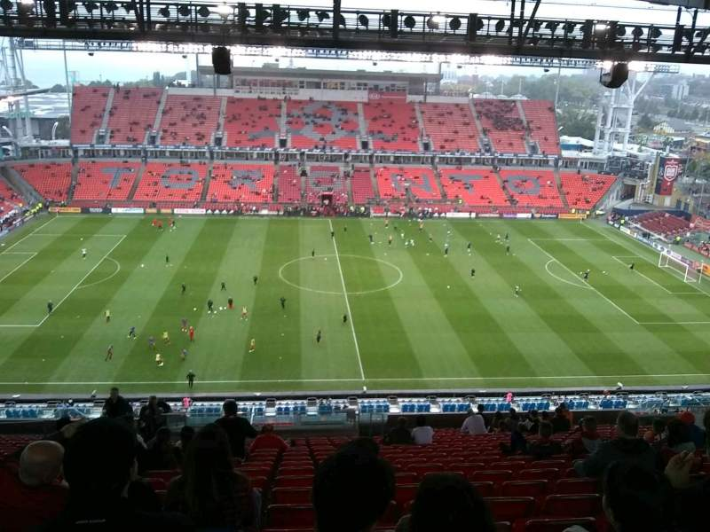 Seating view for BMO Field Section 207 Row 26 Seat 34